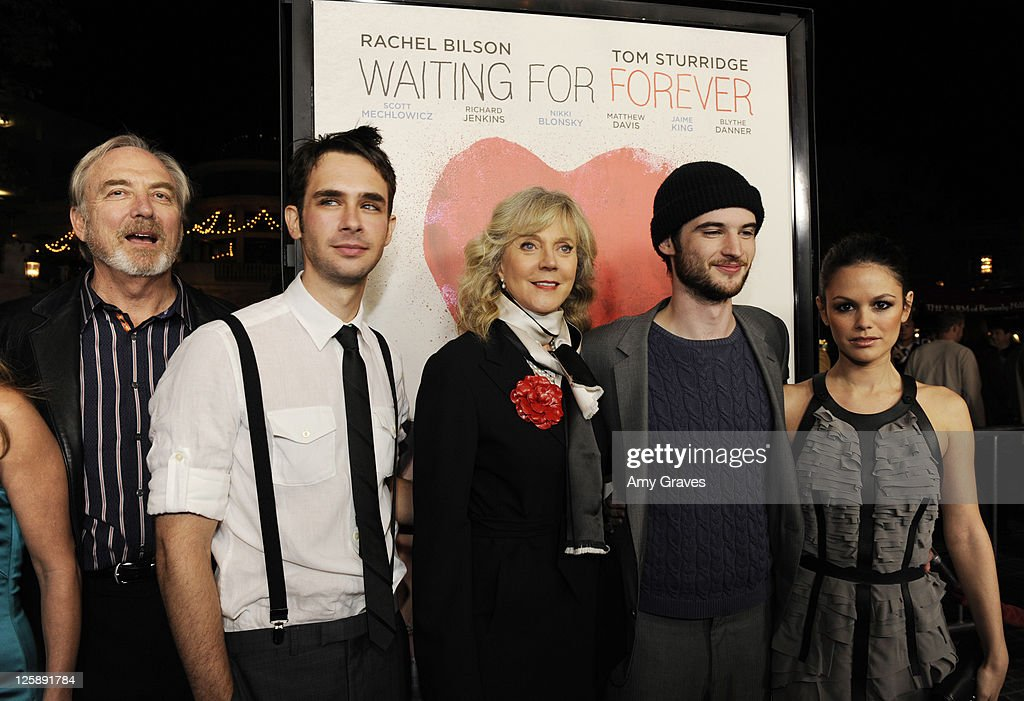 James Keach, Scott Mechlowicz, Blythe Danner and Rachel Bilson attend the 'Waiting for Forever' Movie Premiere at The Grove on February 1, 2011 in Los Angeles, California.