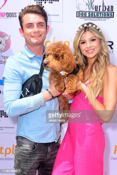 James Kennedy and Raquel Leviss attend 4th Annual World Dog Day at West Hollywood Park on May 18, 2019 in West Hollywood, California.