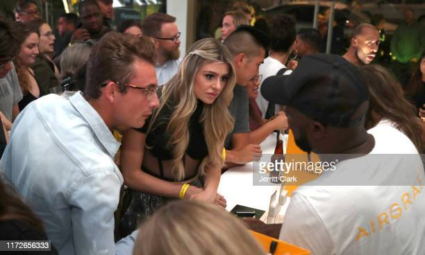 James Kennedy and Raquel Leviss attend Airgraft's Art Of Clean Vapor PopUp Launch Party on September 05 2019 in Los Angeles California