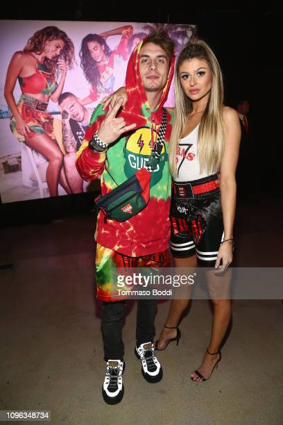 James Kennedy and Raquel Leviss attend GUESS x J Balvin launch party on February 8 2019 in Los Angeles California