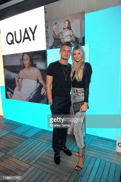 James Kennedy and Raquel Leviss attend the Quay x Chrissy Teigen launch event at The London West Hollywood on August 15 2019 in West Hollywood...