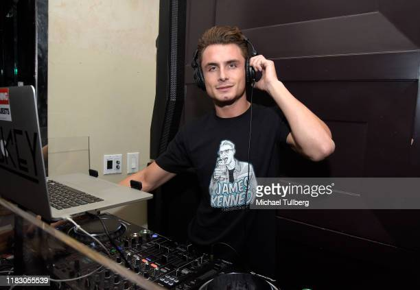 James Kennedy DJs at the Los Angeles launch party for JamesKennedyshop at SUR Lounge on October 23 2019 in Los Angeles California