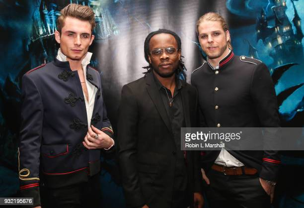 James Kennedy Edmund Prieto and Jeremy Madix attend Kyle Chan's Dark Disney Birthday Party at Sofitel Hotel on March 14 2018 in Los Angeles California