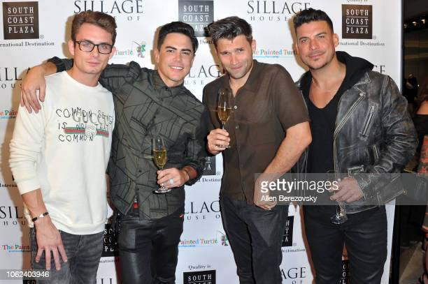 James Kennedy Tom Sandoval Tom Schwartz and Jax Taylor attend the House Of Sillage Holiday Boutique Launch event at House of Sillage on November 01...