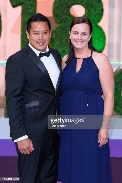 James Keothavong attends the Wimbledon Champions Dinner at The Guildhall on July 15 2018 in London England