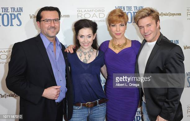 James Kerwin Adrienne Wilkinson Lisa Hansell and Vic Mignogna arrive for the 'When The Train Stops' Los Angeles Premiere held at Cinelounge on...