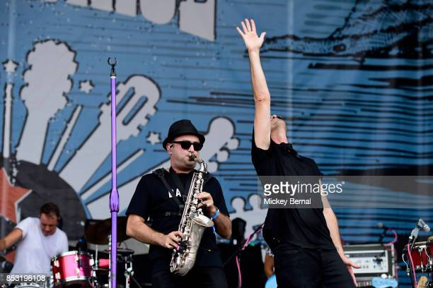 James King and Michael Fitzpatrick of Fitz and the Tantrums perform during Pilgrimage Music Cultural Festival on September 24 2017 in Franklin...
