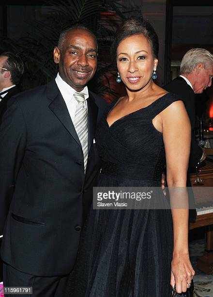James King and Tamara Tunie attend the party following the 65th Annual Tony Awards at The Plaza Hotel on June 12 2011 in New York City