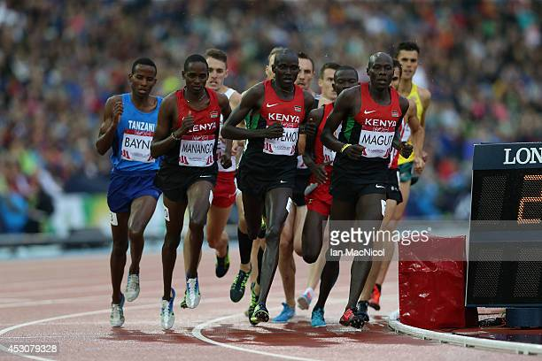 James Kiplagat Magut of Kenya on his way to winning the Men's 1500m at Hampden Park during day ten of the Glasgow 2014 Commonwealth Games on August...