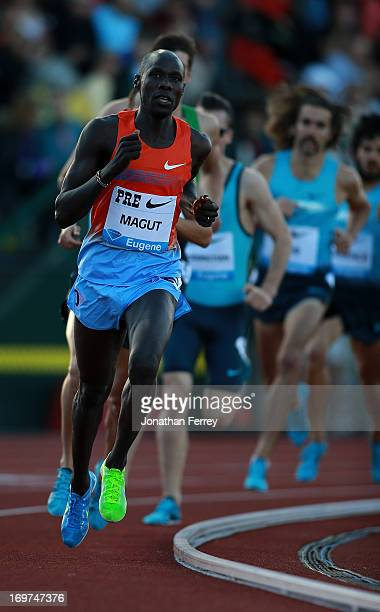 James Kiplagat Magut of Kenya runs in the International Mile during day 1 of the IAAF Diamond League Prefontaine Classic on May 31, 2013 at the...