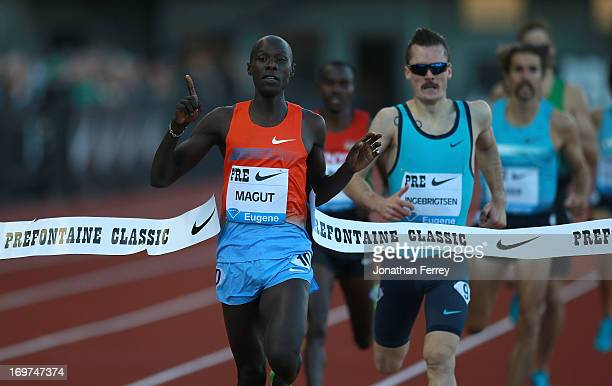 James Kiplagat Magut of Kenya wins the International Mile during day 1 of the IAAF Diamond League Prefontaine Classic on May 31, 2013 at the Hayward...