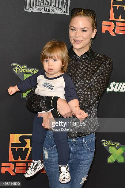 James Knight Newman and Jaime King attend the Disney XD's Star Wars Rebels Spark Of Rebellion Los Angeles special screening at AMC Century City 15...