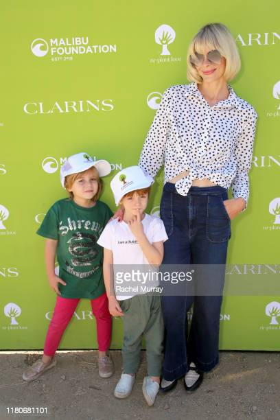 James Knight Newman Leo Thames Newman and Jaime King as Clarins And The Malibu Foundation Host Replant Love at Paramount Ranch on October 12 2019 in...
