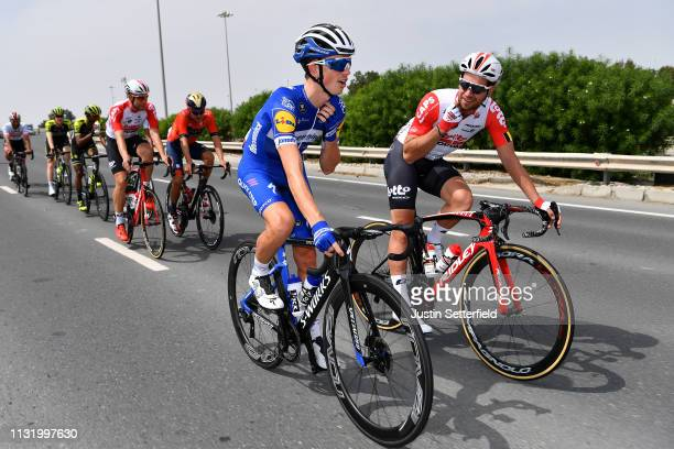 James Knox of Great Britain and Team DeceuninckQuickStep / Adam Blythe of Great Britain and Team Lotto Soudal / during the 5th UAE Tour 2019 Stage 2...