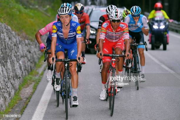 James Knox of Great Britain and Team Deceuninck-QuickStep / Daniel Muñoz Giraldo of Colombia and Team Androni Giocattoli-Sidermec / during the 2nd...