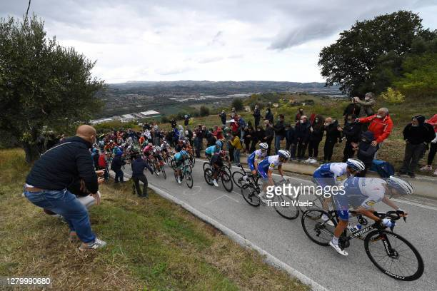 James Knox of The United Kingdom and Team Deceuninck - Quick-Step / Fausto Masnada of Italy and Team Deceuninck - Quick-Step / Mikkel Honore of...