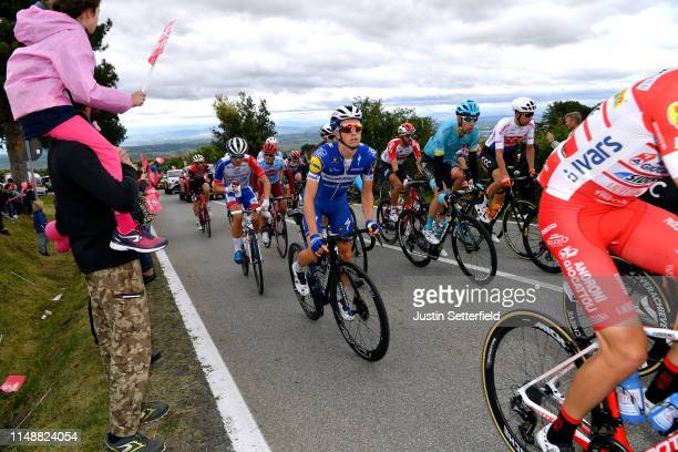 James Knox of United Kingdom and Team Deceuninck - Quick-Step / Jan Hirt of Czech Republic and Astana Pro Team / Josef Cerny of Czech Republic and...