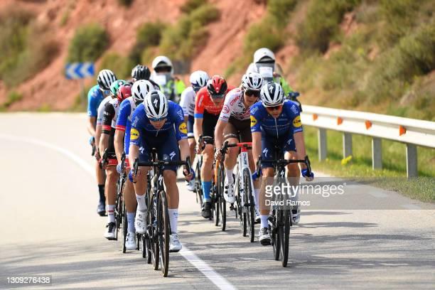 James Knox of United Kingdom and Team Deceuninck - Quick-Step, Rémi Cavagna of France and Team Deceuninck - Quick-Step, Marc Soler Gimenez of Spain...