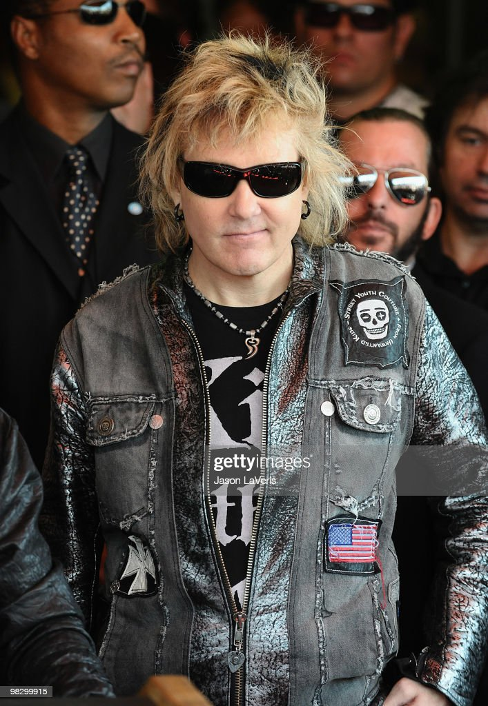 James Kottak of The Scorpions is inducted into the Hollywood RockWalk on April 6, 2010 in Hollywood, California.