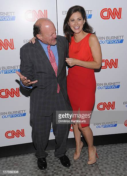 """James Kramer and Erin Burnett attend the launch party for CNN's """"Erin Burnett OutFront"""" at Robert atop the Museum of Arts and Design on September 27,..."""