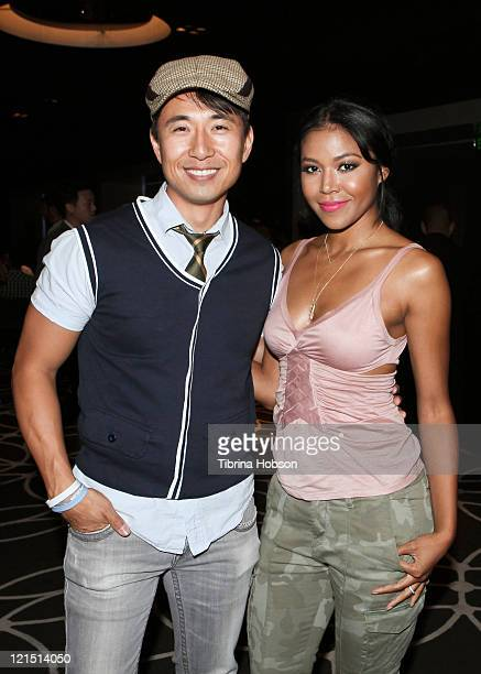 James Kysin Lee and Amerie at the W Hollywood for the Coalition of Asian Pacifics in Entertainment's Celebrity Poker Tournament in Hollywood...