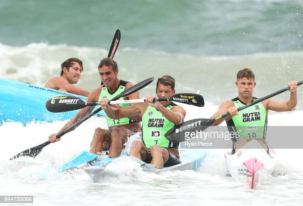 James Lacy Nathan Smith and Hayden Allum compete on the Ski during the Round One Enduro during the Nutri Grain IronMan and IronWoman Finals at...