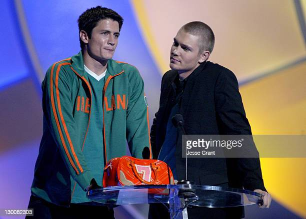 James Lafferty and Chad Michael Murray winner of Choice Male Breakout TV Star for 'One Tree Hill'