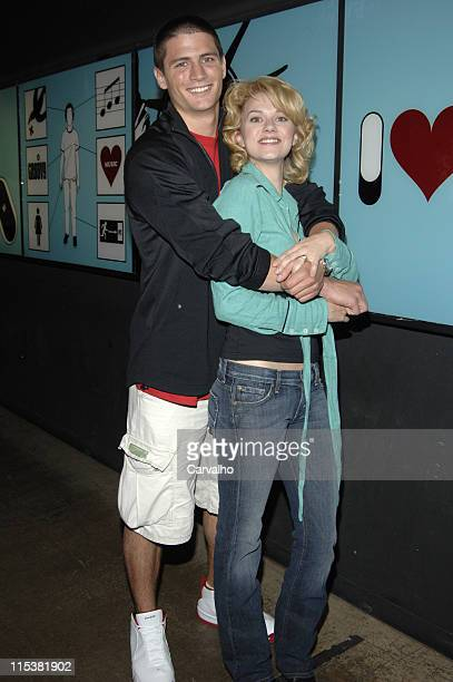 James Lafferty and Hilarie Burton during Wilmer Valderrama Danny Masterson Hilarie Burton and James Lafferty Visit MTV's 'TRL' May 17 2005 at MTV...