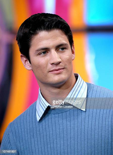 James Lafferty during Green Day Gavin Degraw and the Cast of 'One Tree Hill' visit MTV's 'TRL' November 1 2004 at MTV Studios Times Square in New...