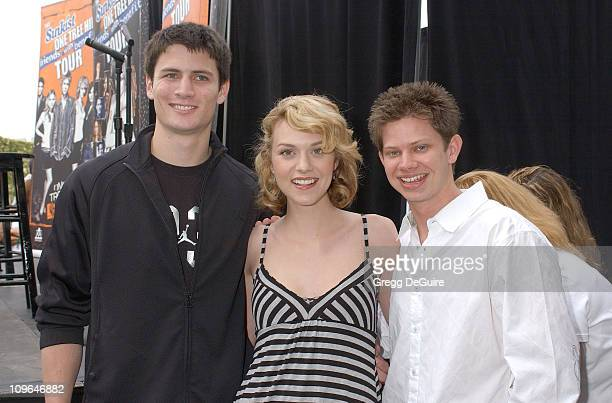 James Lafferty Hilarie Burton and Lee Norris during The Sunkist 'One Tree Hill' Friends with Benefits Tour Visits The Grove in Los Angeles March 25...