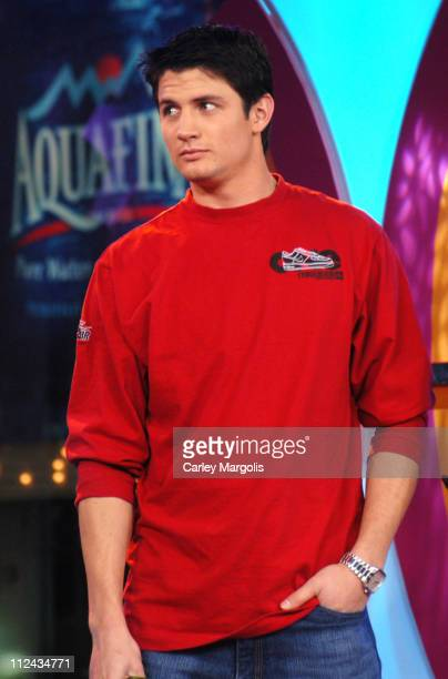 James Lafferty of 'One Tree Hill' during The Cast of 'One Tree Hill' Takes Over MTV's 'TRL' January 25 2005 at MTV Studios in New York City New York...
