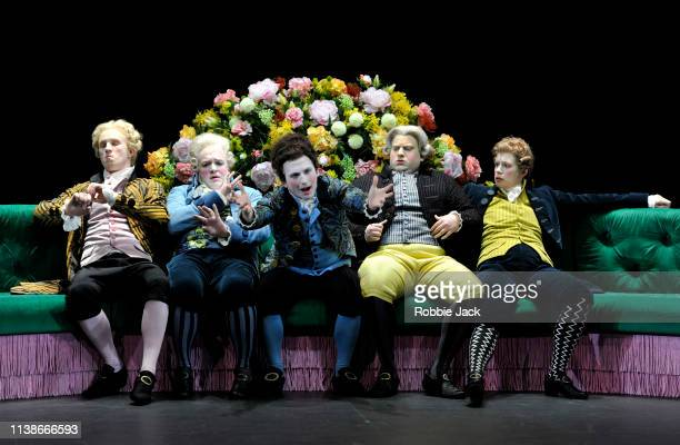 James Laing as Demetrio William Berger as Aristobolo Patrick Terry as Arsace Alessandro Fisher as Fabio and Jacquelyn Stucker as Alessandro in The...