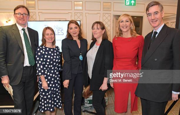 James Landale Chief Executive of Cancer Research UK Michelle Mitchell Katya Adler Jess Phillips Tania Bryer and Jacob ReesMogg MP attend Turn The...