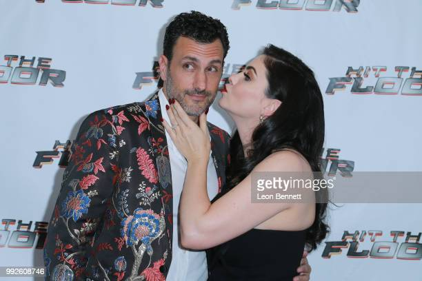 James LaRosa and Jodi Lyn O'Keefe attend Hit the Floor Season 4 Cast Crew Premiere Screening on July 5 2018 in Los Angeles California