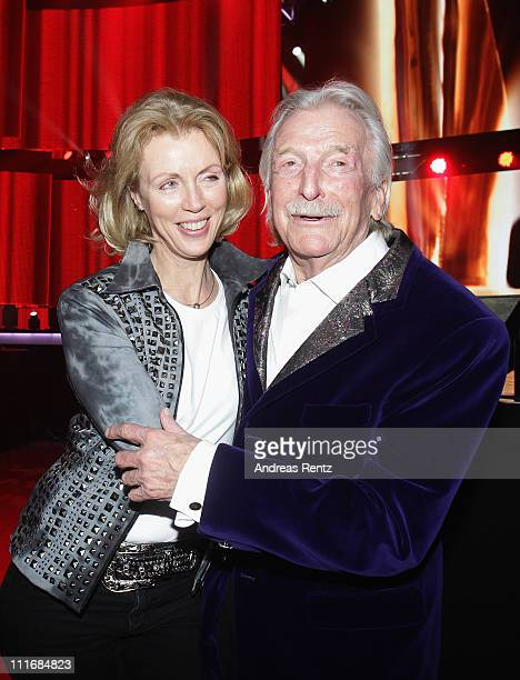 James Last and his wife Christine attend the 'Deutscher Live Entertainment Award PRG LEA 2011' at the Festhalle on April 5 2011 in Frankfurt am Main...