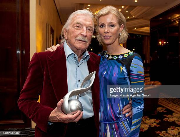James Last and his wife Christine attend the lending out of the 'Deutscher Musikautorenpreis' on May 2012 in Berlin Germany