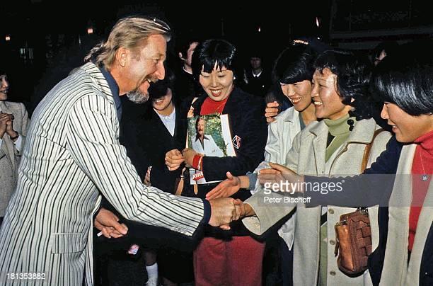 James Last Fans Tournee Osaka Japan Asien 'Hände schütteln' lachen Dirigent Orchesterchef Komponist BandLeader NM/OH