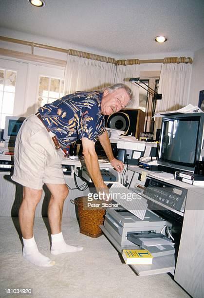 James Last Homestory Fort Lauderdale/Florida/Amerika Tonstudio Monitor Drucker Notenblätter Shorts Orchesterchef Komponist Promis Prominente...