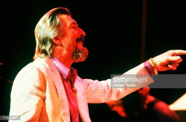 James Last performs on stage London 1982