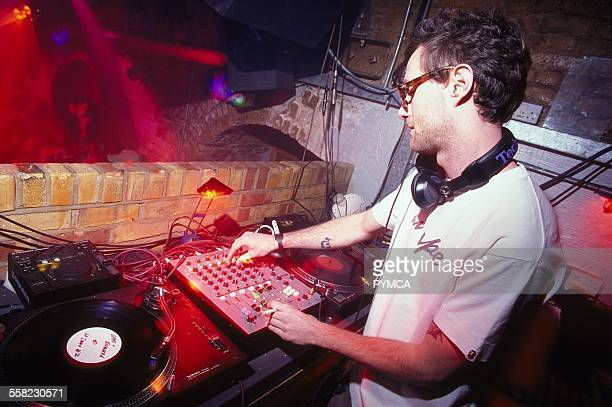 James Lavelle DJing at World DJ Day Fabric London March 2002.