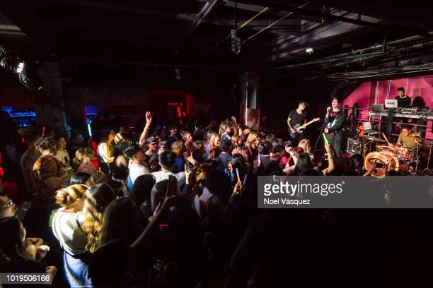 Crowd atmosphere is displayed at 'THE LIGHT EP' release party at the Belasco Theatre on August 18 2018 in Los Angeles California