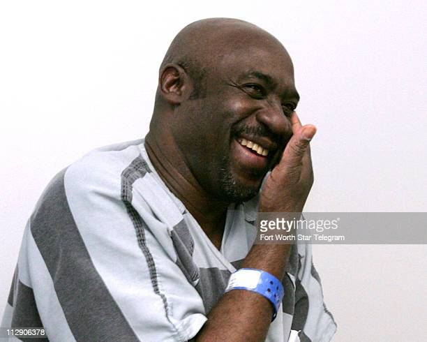 James Lee Woodard is photographed Monday April 28 2008 at the Dallas District Attorney's office in Dallas Texas after being exonerated through the...