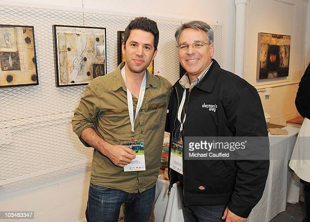 James Lester and Craig Saavedra attends the Filmmaker Gathering at the Lyndsay McCandless gallery during the 5th annual Jackson Hole Film Festival on...