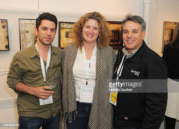 James Lester Melanie Miller and Craig Saavedra attends the Filmmaker Gathering at the Lyndsay McCandless gallery during the 5th annual Jackson Hole...