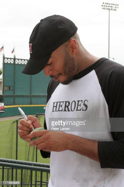 James Lesure during Klein Creative Communications Provides Gift Bags at the 2006 Reebok Heroes Celebrity Baseball Game at Dr Pepper Ballpark in...