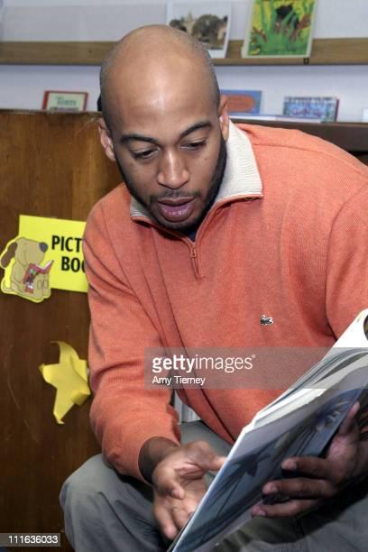 James Lesure during Read Across America James Lesure at Thomas Jefferson Elementary at Thomas Jefferson Elementary in Los Angeles California United...