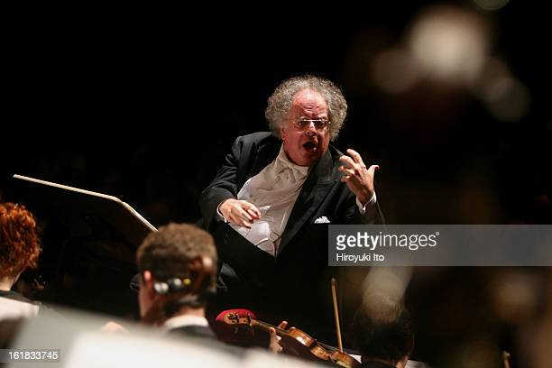 James Levine conducting the Juilliard Orchestra in a program of Elliott Carter and Charles Ives at the Peter Jay Sharp Theater on Saturday night...