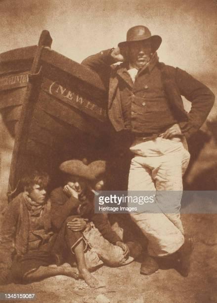 James Linton and Three Boys, Newhaven, 1843/47, printed circa 1916. Carbon print. Artist David Octavius Hill, Robert Adamson, Hill & Adamson.