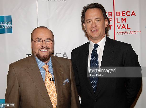 James Lipton and actor Tom Hanks pose at the 5th Annual Tribeca Film Festival April 29 2006 in New York City
