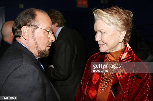 James Lipton and Ellen Burstyn during Opening Night of Oldest Living Confederate Widow Tells All on Broadway and AfterParty at The Longacre Theater...